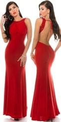 Červené dlouhé šaty in-sat1284re