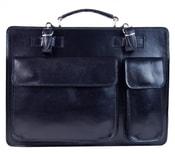 Moderní tmavě modrá pánská aktovková taška z pravé italské kůže DIVA