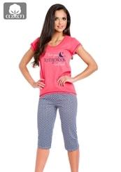Dámské pyžamo s capri kalhotami Rika