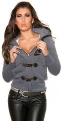 Dámský kabátek s kapucí in-bu1113tgr