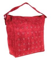 Broušená červená kabelka na rameno M9001