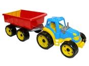 Traktor plastový s vlečkou