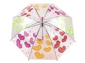 Dívčí průhledný vystřelovací deštník
