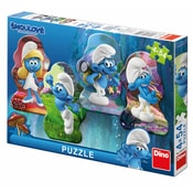 Puzzle 4x54 Šmoulové 3 Hrdinové