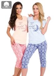 Dámské pyžamo s capri kalhotami Malina