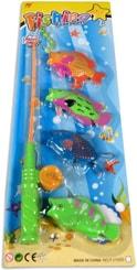 Hra rybičky 4ks set s rybářským prutem dětský rybolov na kartě plast