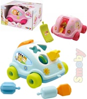 Cotoons Baby auto vkládačka autíčko vkládací telefon tahací 2 barvy plast