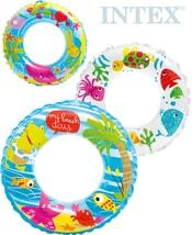 INTEX Kruh dětský nafukovací 61cm plavací kolo do vody 3 druhy 58245