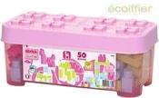 Abrick Maxi baby kostky set 50ks stavebnice pro holky růžový box