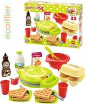 Vaflovač dětský srdce výroba vaflí set s potravinami a nádobím plast