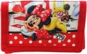 Peněženka dětská 13x8cm Disney Minnie na suchý zip modrá