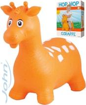 Hopsadlo Žirafa 55x50cm oranžové skákací zvířátko