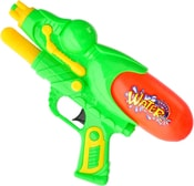 Vodní pistole 29cm s pumpou plastová se zásobníkem 2 barvy v sáčku