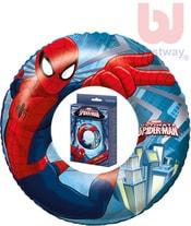 Dětský kruh nafukovací 56cm plavací kolo do vody Spiderman 98003