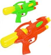 Pistole vodní dětská plastová 30cm se zásobníkem na vodu 2 barvy