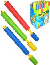 Pistole vodní dětská 38cm soft eva pěnová trubice na vodu 4 barvy
