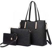 Praktický dámský kabelkový set 3v1 Miss Lulu černá