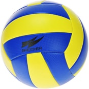 Míč volejbalový 270g šitý č.5 žlutomodrý v sáčku