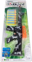 Samopal dětský vojenský vzor maskáč set se 6 soft náboji plast