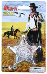 Hvězda šerif plast