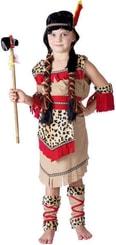 Karnevalový kostým INDIÁNKA vel. M (120-130 cm) 5-9 let béžový