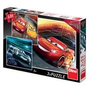 Puzzle 3x55 Cars 3 - Trénink