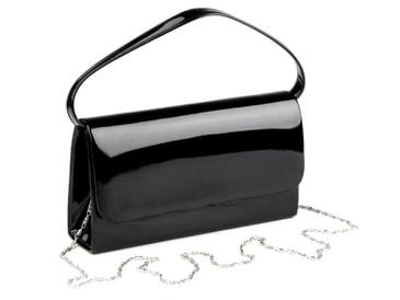 3c3867b5ab Luxusní černá lakovaná dámská listová kabelka   psaní SP100 ...