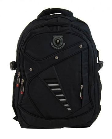 7024b74375c Větší batoh NEWBERRY do školy i na sportování L1911 černý