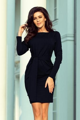 d6d419313b78 Elegantní černé šaty KM117-1