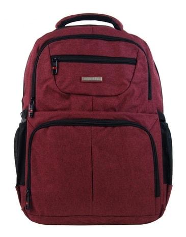 New Berry Elegantní polstrovaný školní batoh L18105 anticky červený ac5fbd2337