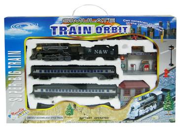 Vlak na baterie s kolejemi