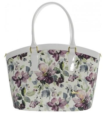 Elegantní kabelka s květy magnólie S505 Dámské kabelky